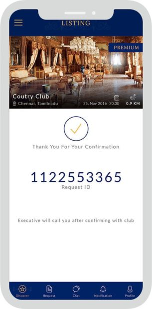 UX for Private Club App