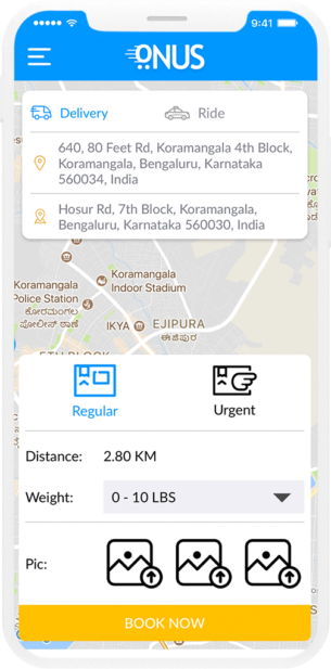 Pickup and Drop Courier App