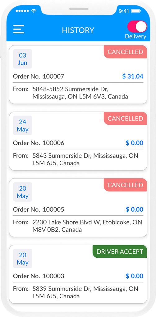 Courier Delivery App Design