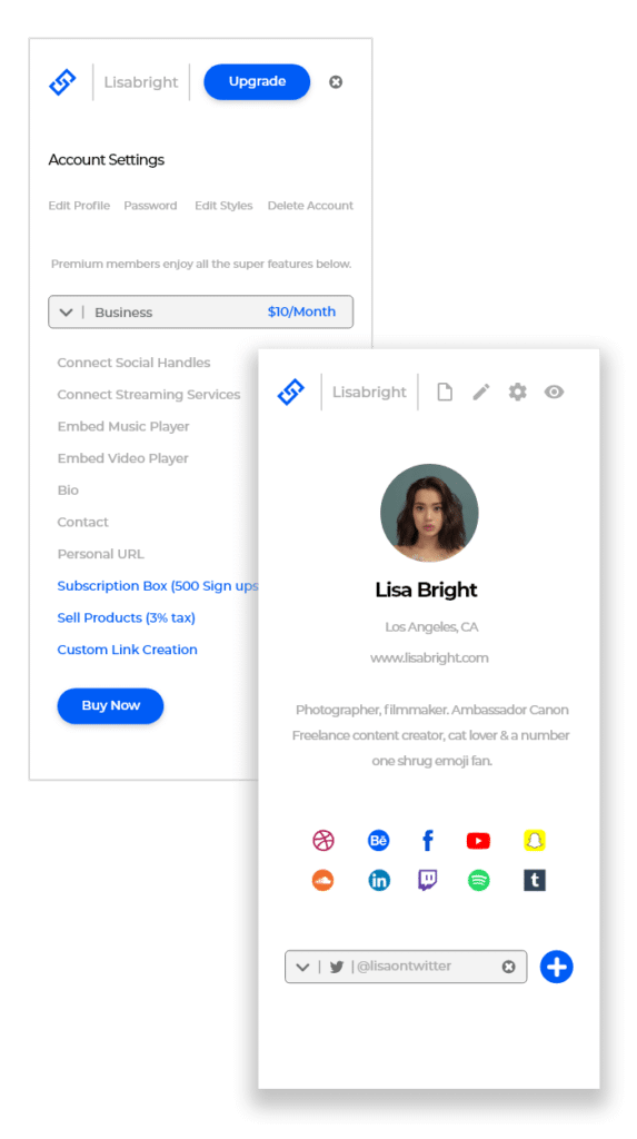 Influencer Dashboard App Design