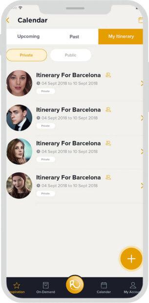 Itinerary App Design